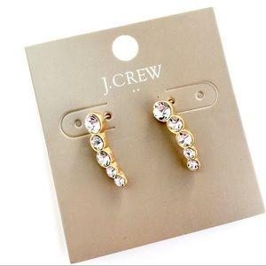 Jcrew crystal bar earrings